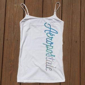 Aéropostale White Tank Top